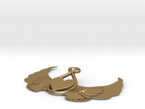 Heart-on-wings-1 in Polished Gold Steel