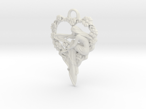 Maiden-of-the-heart-pendant-valentines-comp-entry- in White Natural Versatile Plastic