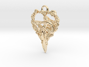 Maiden-of-the-heart-pendant-valentines-comp-entry- in 14k Gold Plated Brass