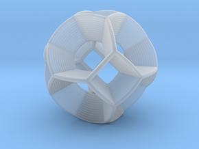 0412 Spherical Truncated Octahedron (d=6cm) #004 in Smooth Fine Detail Plastic