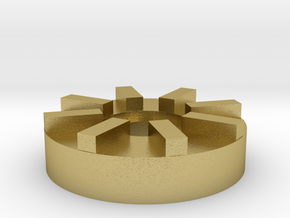 AEP Hopup Adjustment Wheel in Natural Brass