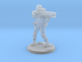 36mm Heavy Armor Trooper 4 in Smooth Fine Detail Plastic