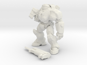 1/24 Combat Marine in Suit in White Natural Versatile Plastic
