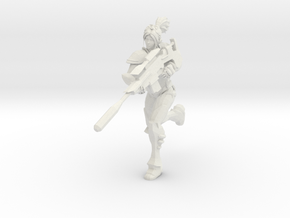 1/24 Ghost Nova Running Pose in White Natural Versatile Plastic