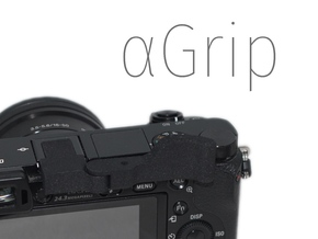 ⍺Grip (Grip for Sony A6000) in Black Strong & Flexible