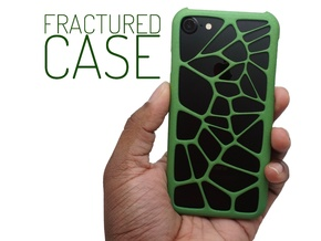 Fractured Case (Voronoi Case for iPhone 7) in Green Strong & Flexible Polished