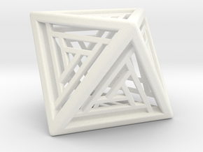 Octahedron Lattice in White Strong & Flexible Polished