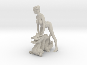 Dragon+girl in Natural Sandstone
