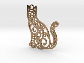 CatArt in Natural Brass