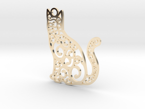 CatArt in 14k Gold Plated Brass