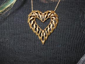 Heart 01 Brass Ready in White Natural Versatile Plastic
