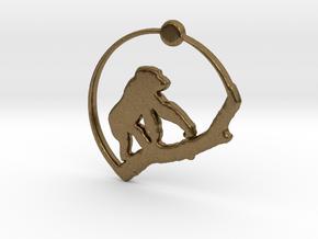 Gorilla Pendant in Natural Bronze