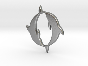 Dolphin Pendant in Natural Silver
