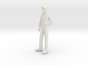 1/24 Teenager Standing in White Natural Versatile Plastic