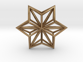 Origami STAR Structure, pendant in Natural Brass