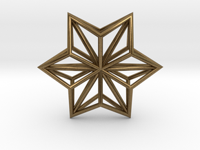 Origami STAR Structure, Pendant.  in Natural Bronze