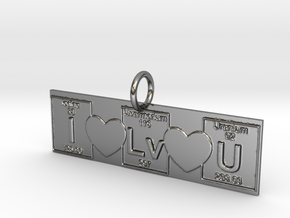 I love You! Geek Love in Fine Detail Polished Silver