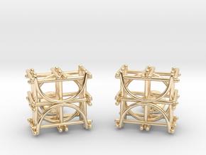 Architecture Cufflinks in 14k Gold Plated Brass