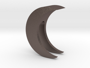 Crescent Moon Webcam Privacy Shade / Cover / Charm in Polished Bronzed Silver Steel
