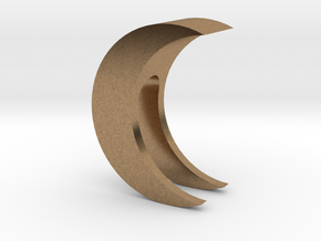 Crescent Moon Webcam Privacy Shade / Cover / Charm in Natural Brass