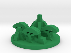 Game Piece, Jungle Temple Ruins in Green Processed Versatile Plastic