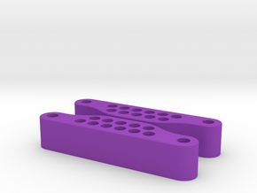 Front Slider - 3D in Purple Processed Versatile Plastic