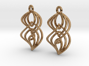 Interlocking Twisted Ellipses in Polished Brass (Interlocking Parts)