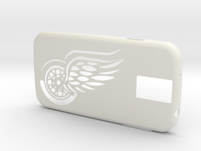 "Iphone 6 ""RedWings"" in White Strong & Flexible"