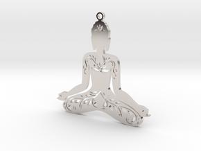 """Anhänger """"Buddha"""" in Platinum"""