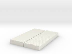 1:87 Corrugated Sheet Die - Ver3 in White Strong & Flexible