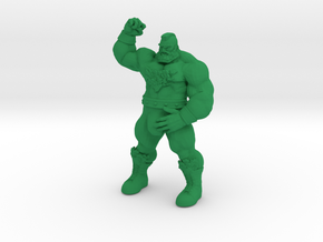 Zangief big bulge in Green Processed Versatile Plastic