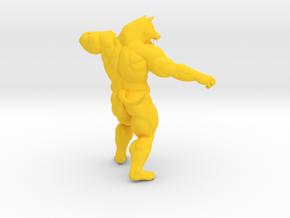 Fighting Wolf in Yellow Processed Versatile Plastic