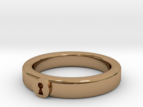 Keeper Ring in Polished Brass: 13 / 69