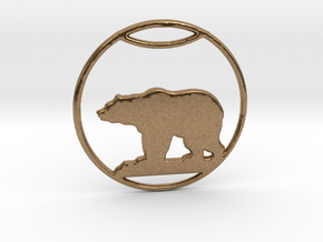 Polar Bear Pendant in Natural Brass: Large