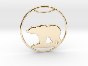 Polar Bear Pendant in 14K Yellow Gold: Large