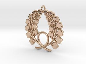Matsuya Crest: Wreath Pendant in 14k Rose Gold