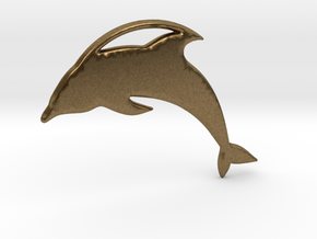 The Dolphin Necklace in Natural Bronze