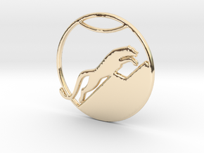 The Snow Leopard Necklace in 14k Gold Plated Brass