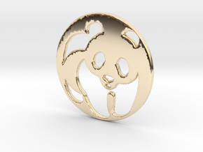The Panda Pendant in 14K Yellow Gold