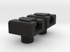 Great Sword Holders x2 5mm Pegs in Black Natural Versatile Plastic
