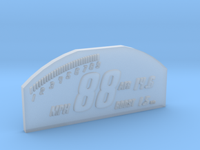 1/10 SCALE RACEPAK SCREEN in Smooth Fine Detail Plastic