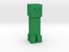 Minecraft Creeper in Green Processed Versatile Plastic: Extra Small