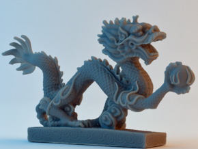 Chinese Dragon in Smooth Fine Detail Plastic
