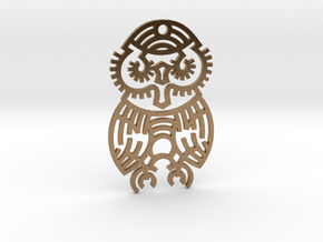 Owl / Búho in Natural Brass