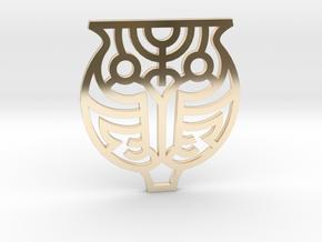 Owl / Búho in 14k Gold Plated Brass