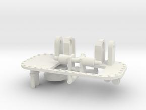 1/16 M31 Crane Parts. in White Natural Versatile Plastic