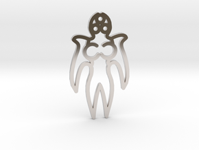 Angel in Rhodium Plated Brass