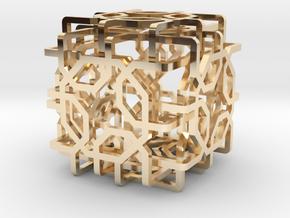 Two-layer Islamic geometric charm in 14K Yellow Gold