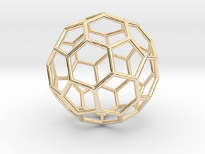 0624 Fullerene c60-ih - Model for the BFI (Bulk) in 14K Yellow Gold