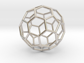 0624 Fullerene c60-ih - Model for the BFI (Bulk) in Rhodium Plated Brass
